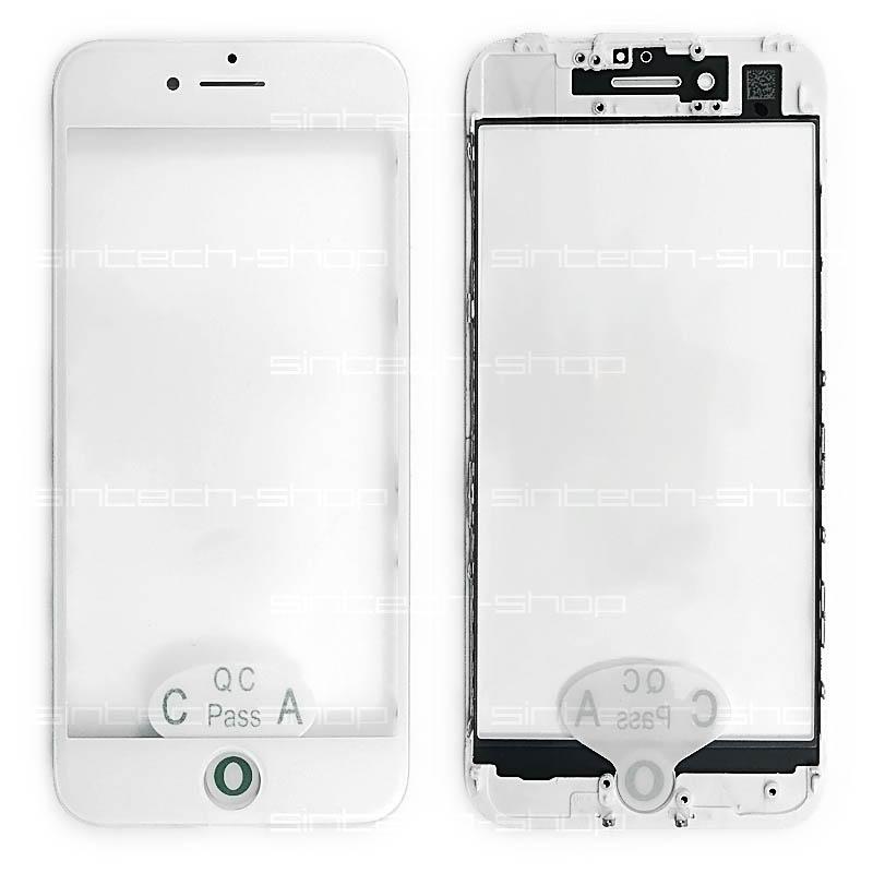 iPhone 7 čelní dotykové sklo s rámem a OCA lepící vrstvou PREMIUM - bílé