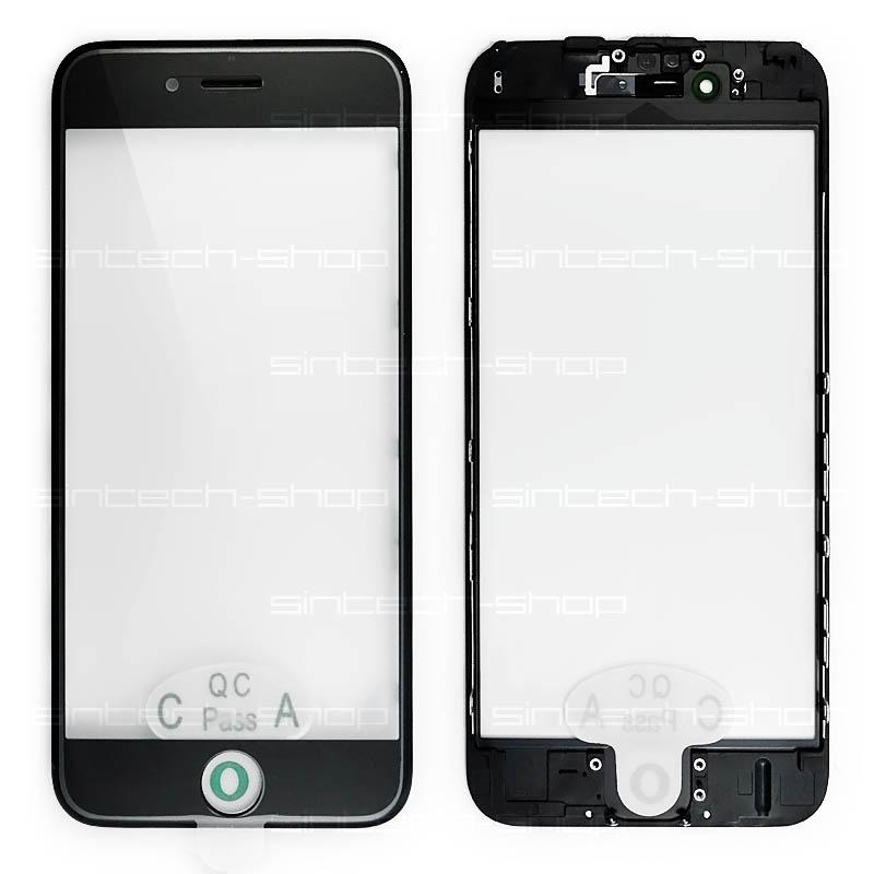 """iPhone 6S (4,7"""") čelní dotykové sklo s rámem a OCA lepící vrstvou PREMIUM - černé"""