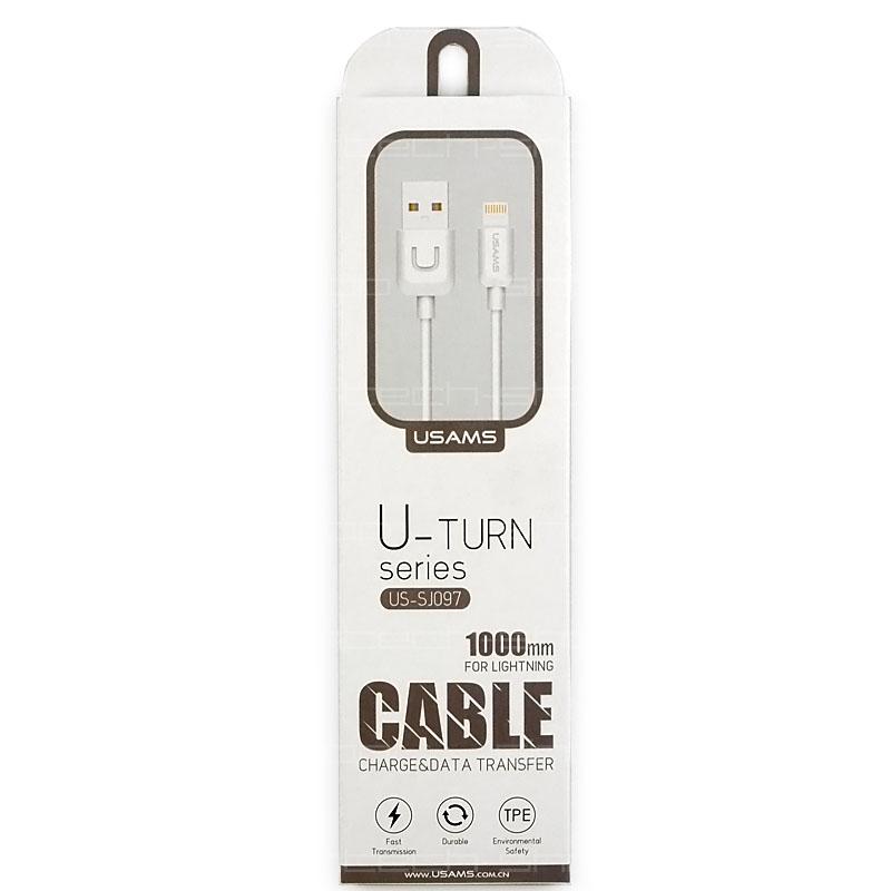 USAMS SJ097 Datový Kabel Lightning U Turn bílý