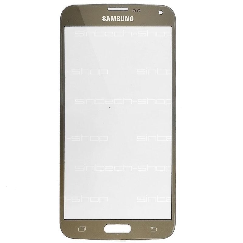 Samsung Galaxy S5 Neo G903F čelní dotykové sklo, zlaté