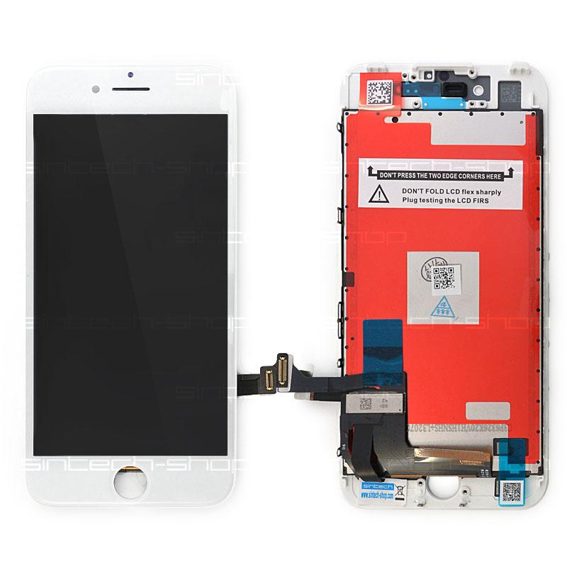"iPhone 7 (4,7"") LCD displej s rámem a dotykem, bílý"