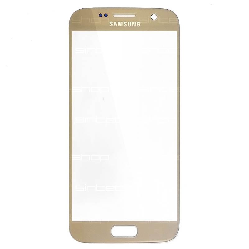 Samsung Galaxy S7 G930F zlaté čelní dotykové sklo, HQ