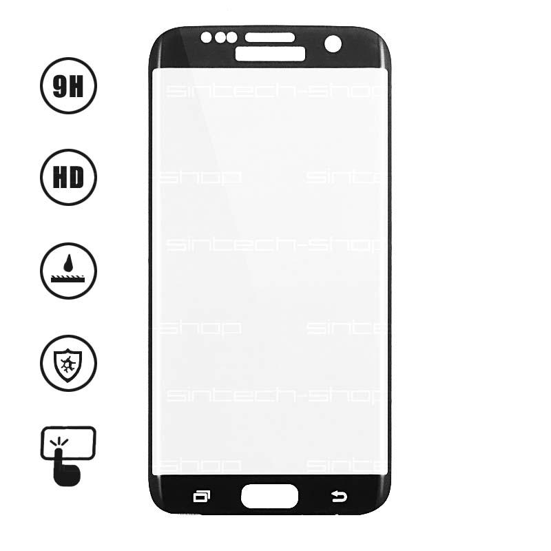 3D Ochranné Tvrzené Sklo 9H pro Samsung Galaxy S7 Edge Barevná varianta: Černá