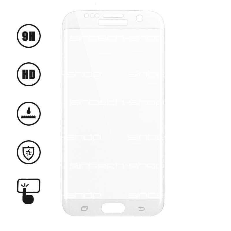 3D Ochranné Tvrzené Sklo 9H pro Samsung Galaxy S7 Edge Barevná varianta: Bílá