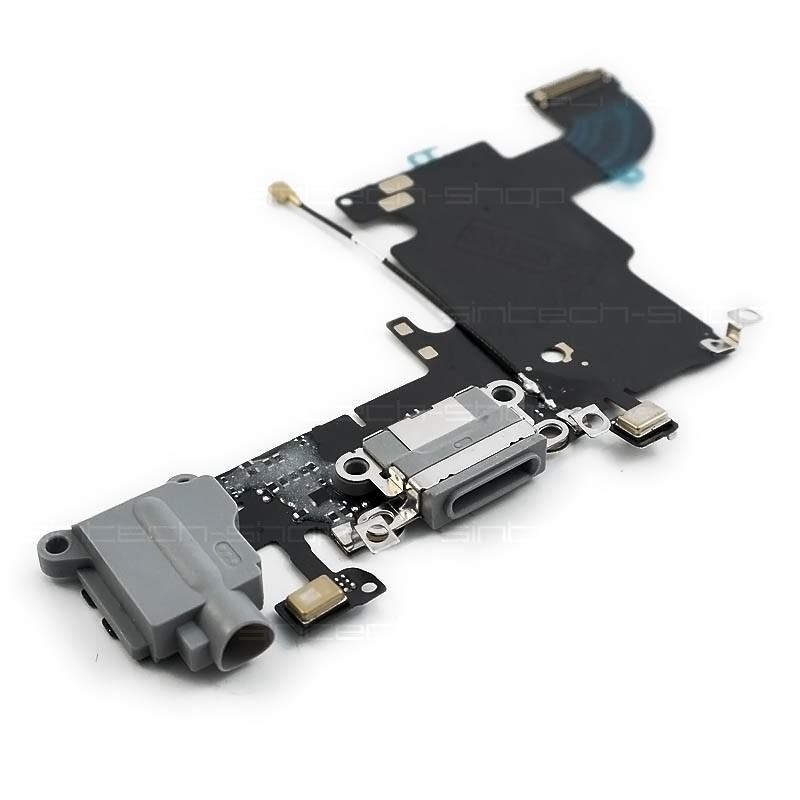 iPhone 6S docking port se sluchátkovým jackem a flexem, šedý