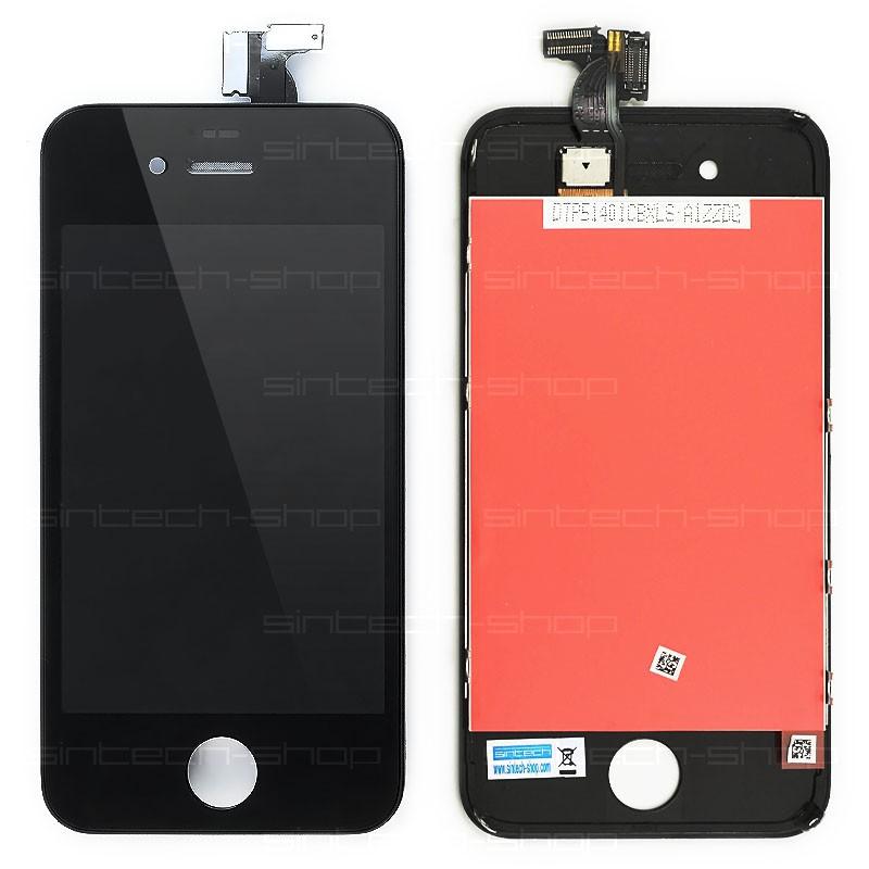 iPhone 4 kompletní čelní díl s LCD ORIGINAL - černý