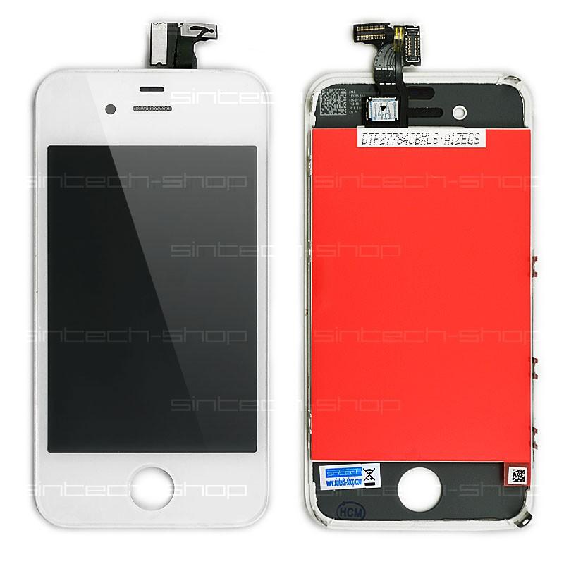 iPhone 4 kompletní čelní díl s LCD ORIGINAL - bílý