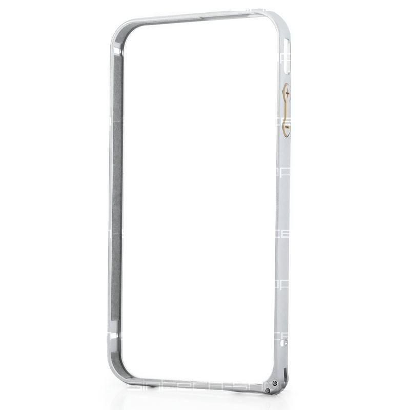 Hliníkový bumper pro iPhone 4 / 4S stříbrný
