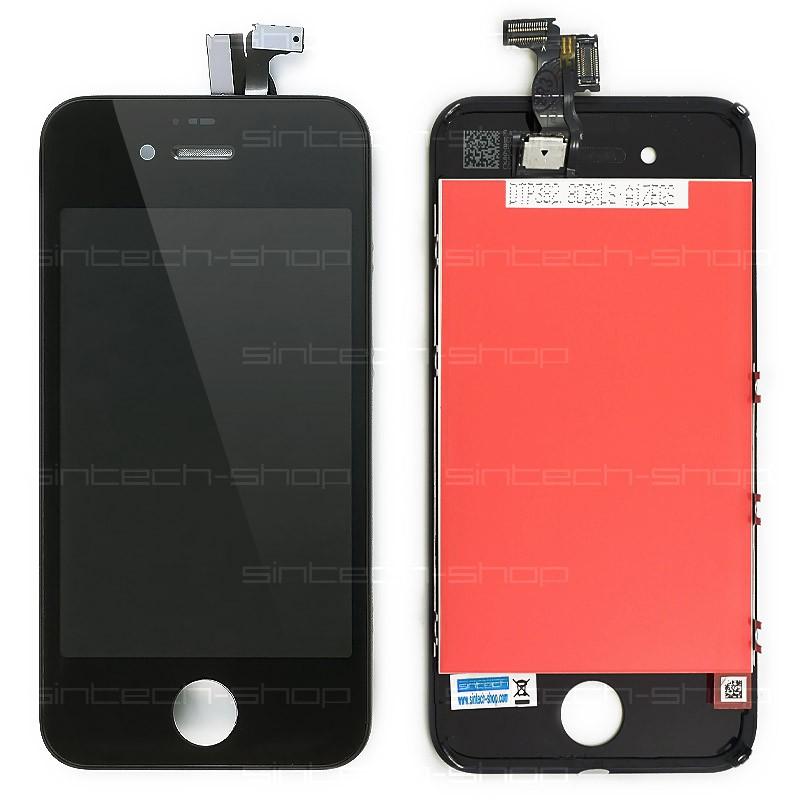 iPhone 4S kompletní čelní díl s LCD - černý