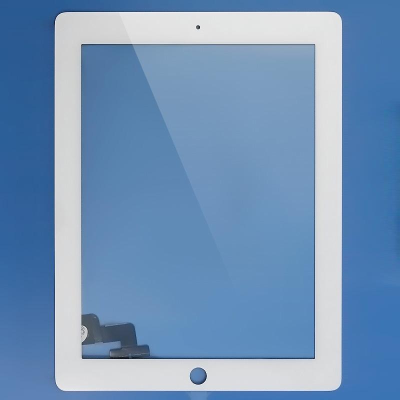 iPad 2 čelní sklo + digitizer (Touchscreen) - bílý