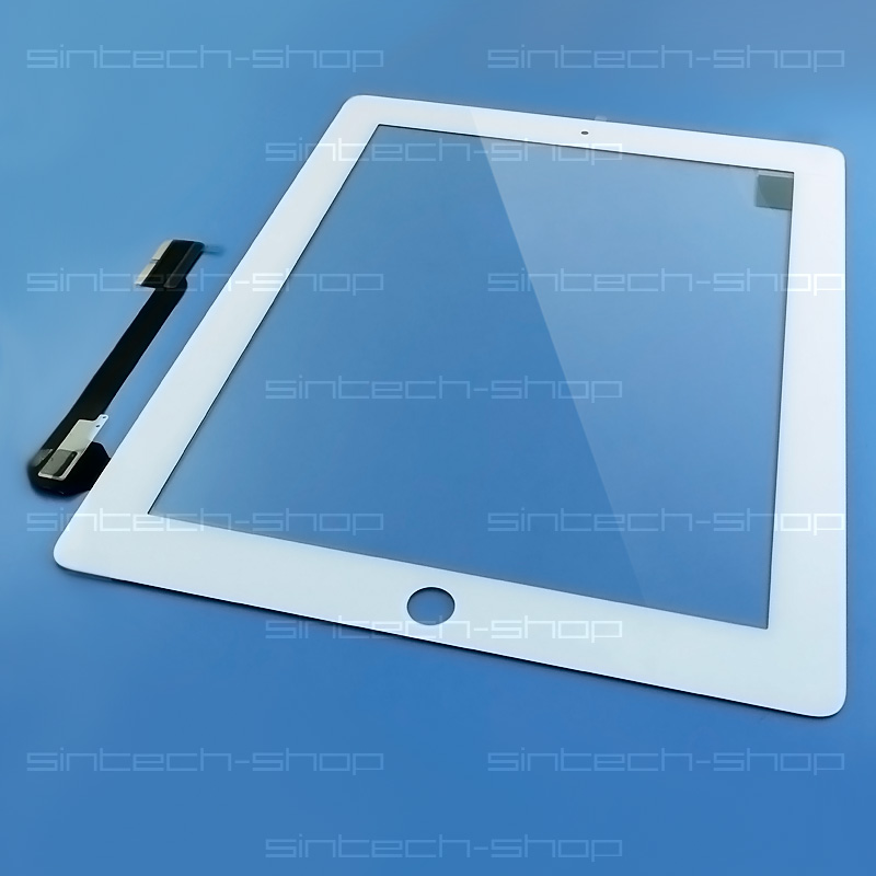 iPad 3 / iPad 4 čelní sklo + digitizer (Touchscreen) - bílý