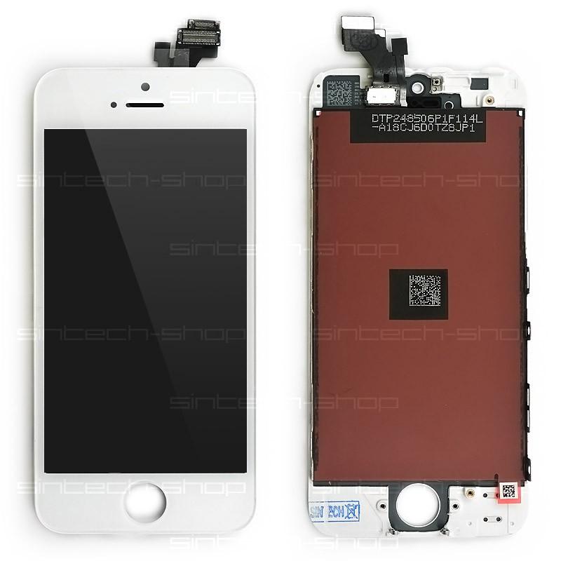 iPhone 5 SINTECH© Premium čelní díl s LCD - bílý