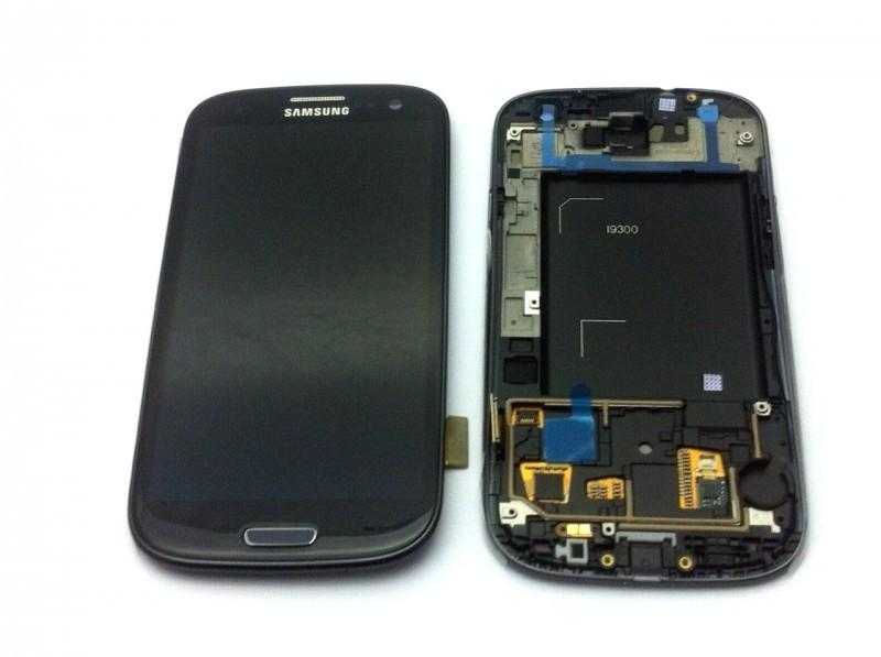 Samsung i9300 Galaxy S3 black LCD Display + dotyk + přední kryt