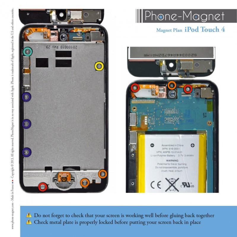Phone-Magnet: profesionální magnetická podložka pro šrouby iPod Touch 4G