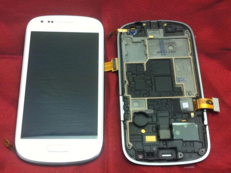 Samsung I8190 Galaxy S3 Mini - displej s rámem, bílý, ORIGINÁL