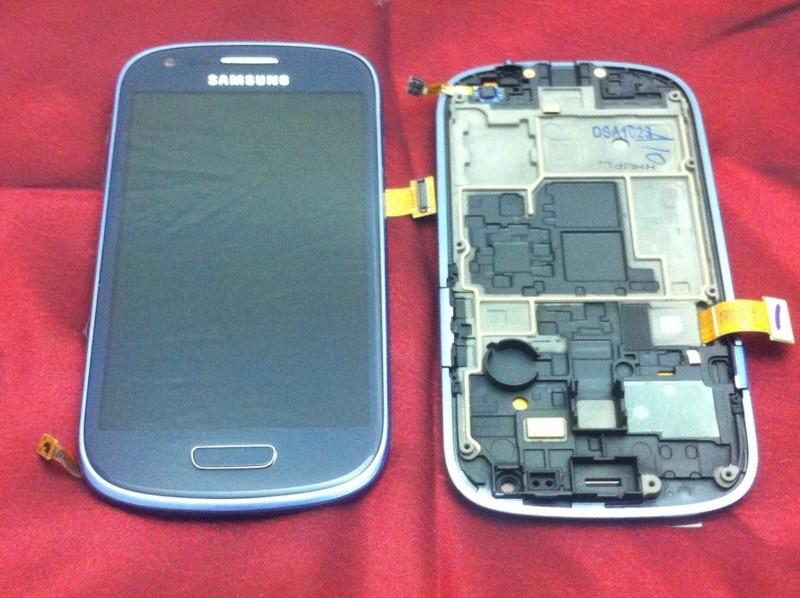 Samsung I8190 Galaxy S3 Mini - displej s rámem, modrý, ORIGINÁL
