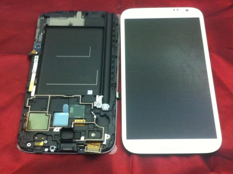 Samsung N7100 Note 2 displej s rámem, bílý