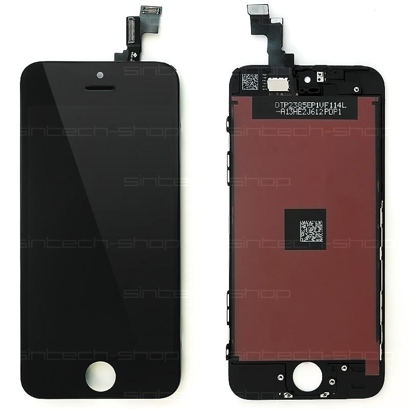 iPhone 5S/SE SINTECH© Premium LCD displej s rámem a dotykem - černý