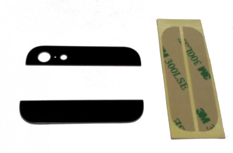 Zadní skleněné kryty na iPhone 5 - černé