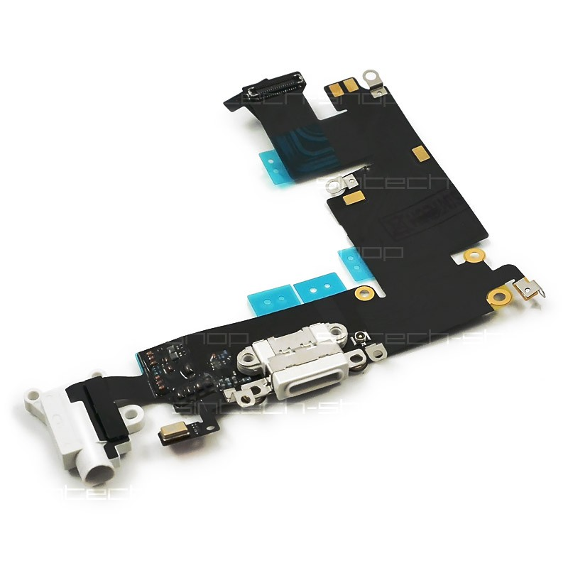 """iPhone 6 Plus (5,5"""") docking port se sluchátkovým jackem a mikrofonem, bílý"""