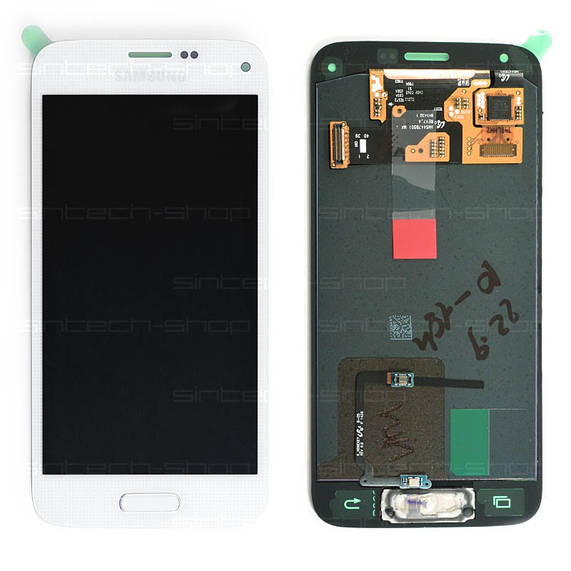 Samsung Galaxy S5 Mini G800F LCD Display s rámem, bílý
