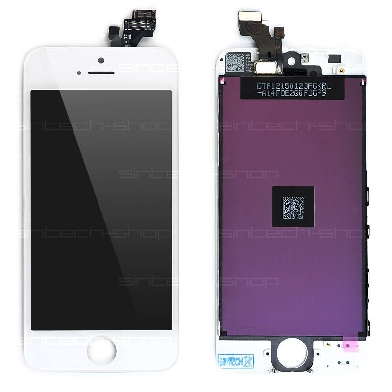 Apple LCD displej + dotyková deska pro iPhone 5, bílá