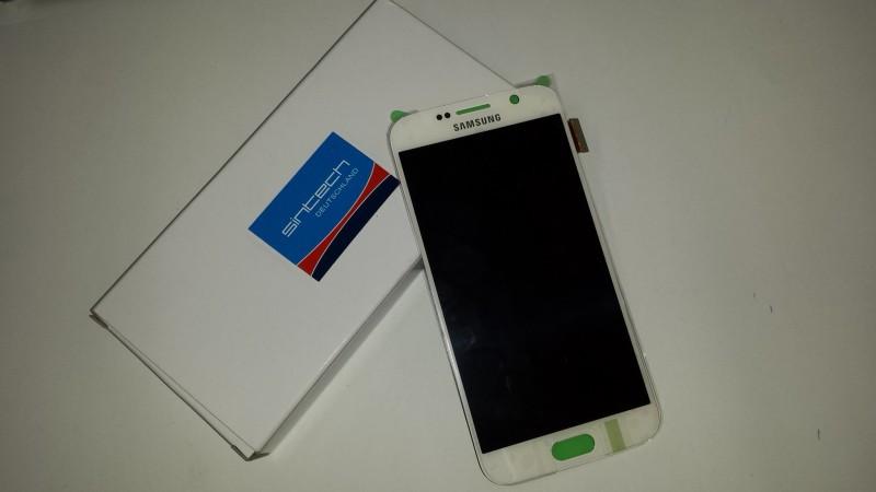 Samsung Galaxy S6 SM G920F display s rámem, bílý