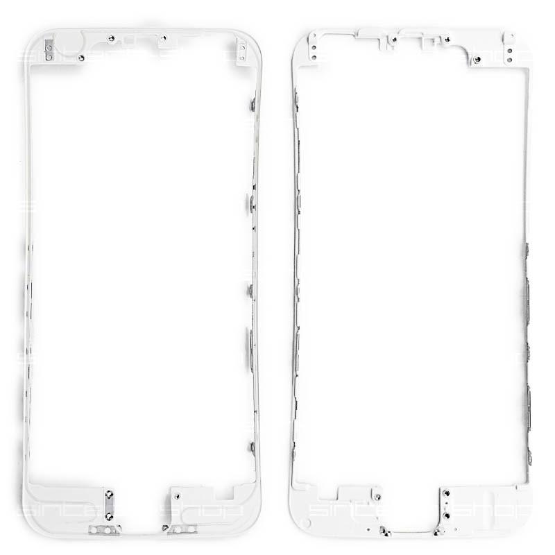 iPhone 6 bílý - čelní rámeček skla