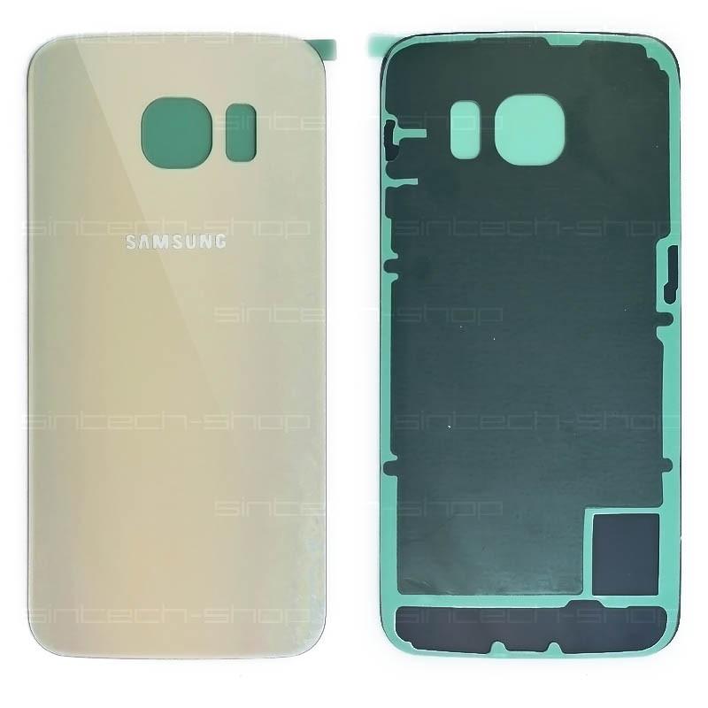 Samsung Galaxy S6 Edge G925F zadní skleněný kryt, zlatý