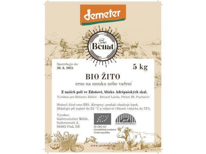 Etiketa zrno Žito 5 kg