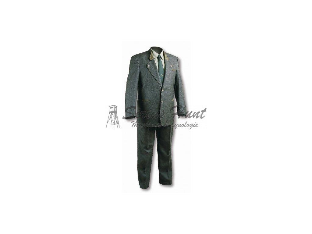 oblek m se zelenym doplnkem