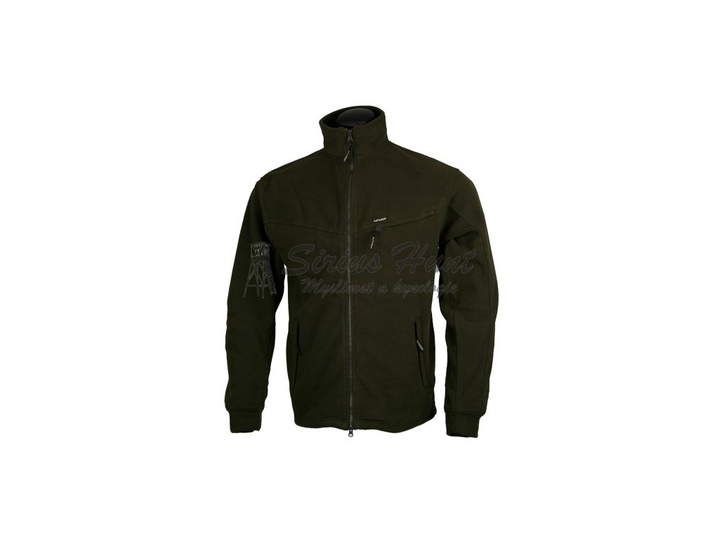 bunda fleece dlouhy zip