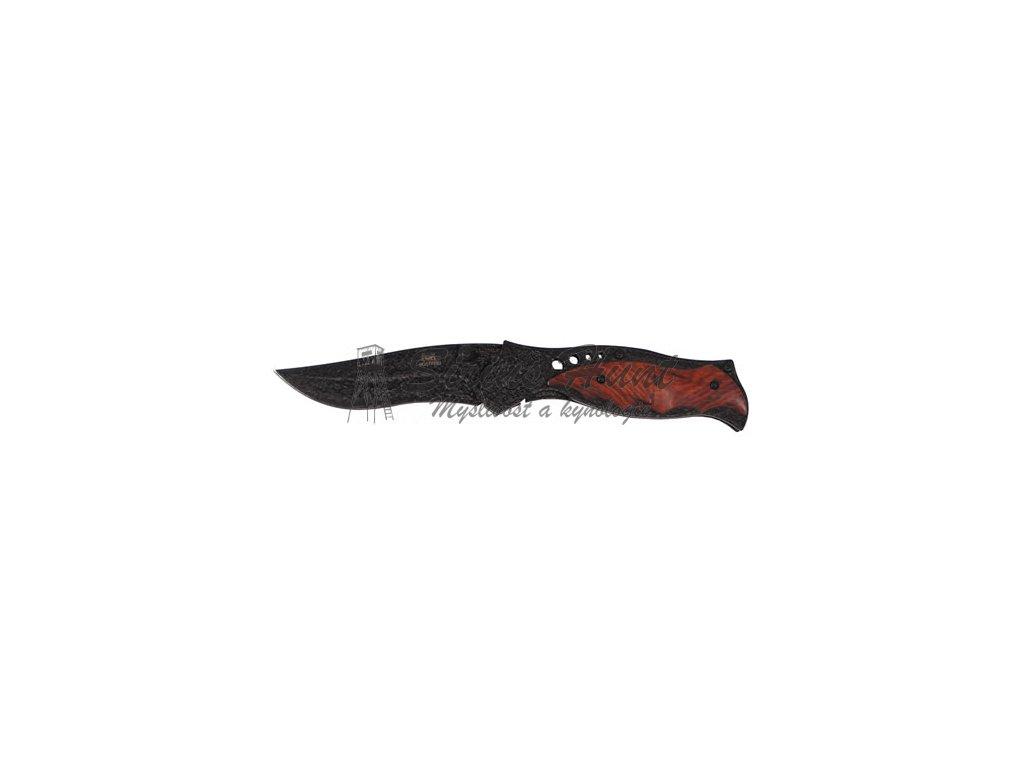 Nůž zavírací s dřevenou střenkou potažený