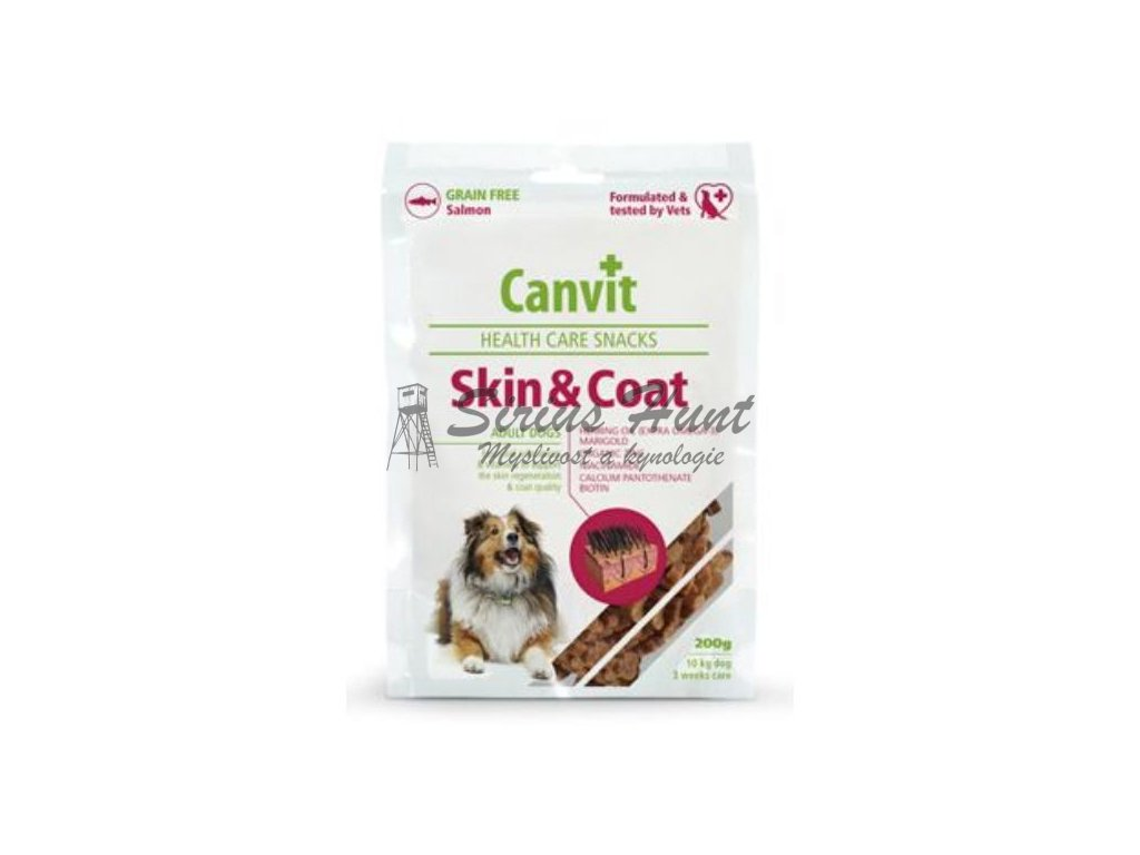 canvit snacks skin coat 200g