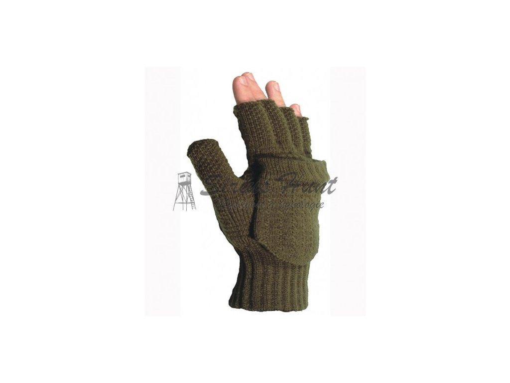 rukavice pletene bez prstu