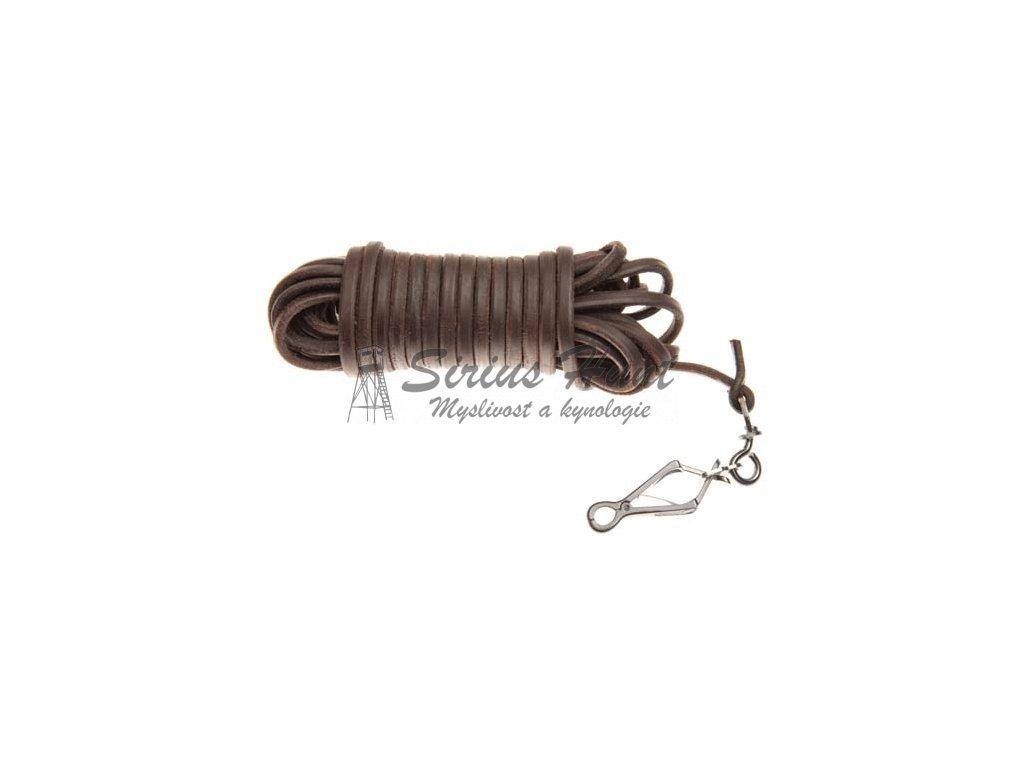 1889 barvarska snura ukoncena karabinou sprenger 6 mm hneda