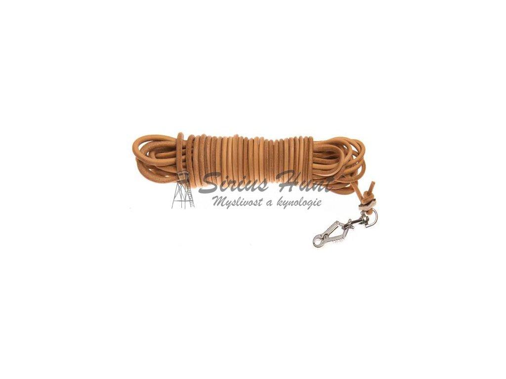1898 kulata barvarska snura ukoncena karabinou sprenger 4 mm prirodni