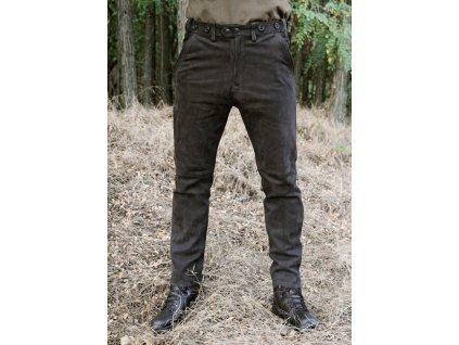 Kalhoty kožené hnědé Carl Mayer Rabenau Braun