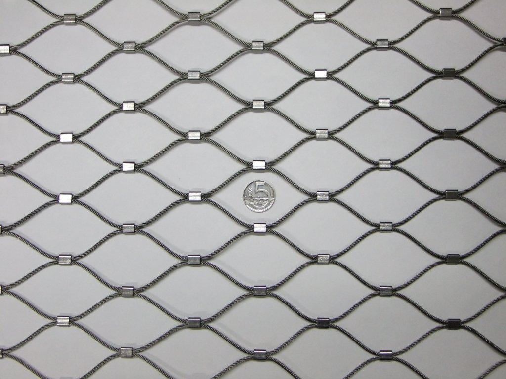 nerezové sítě vlákno 2.4 mm oko 51 x 51 mm cena za m2