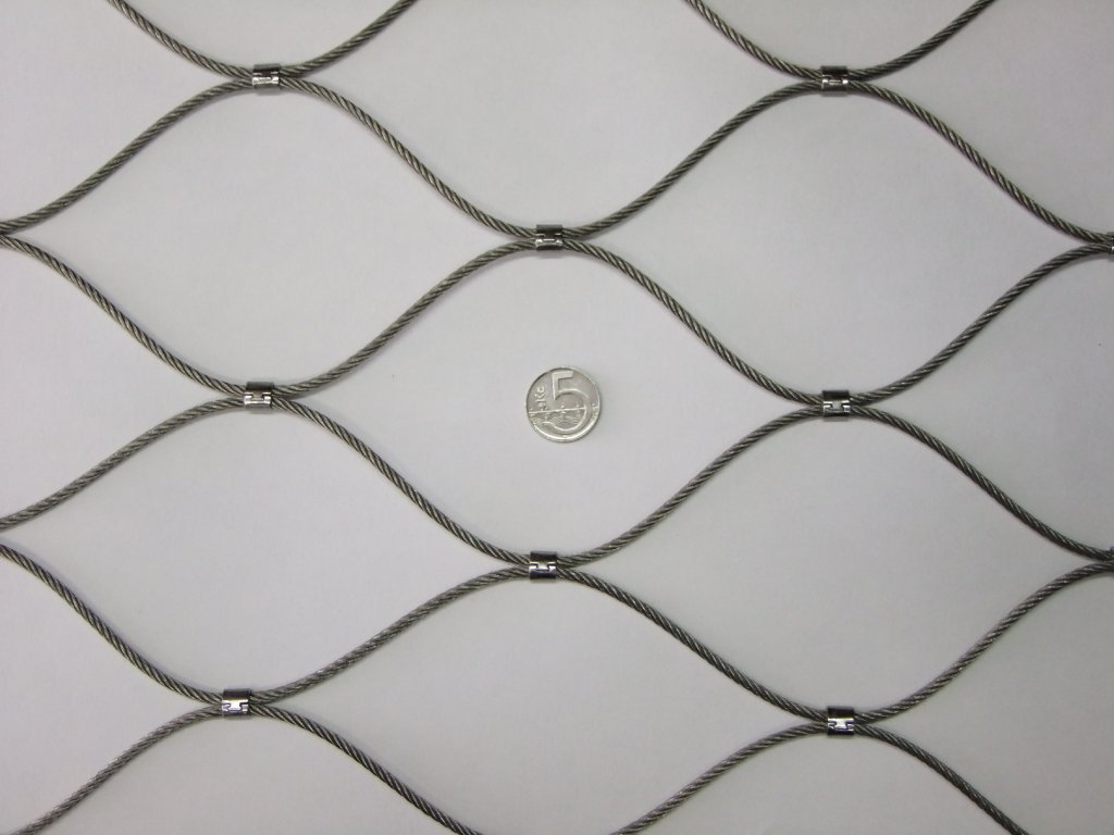 nerezové sítě vlákno 2.4 mm oko 100 x 100 mm cena za m2
