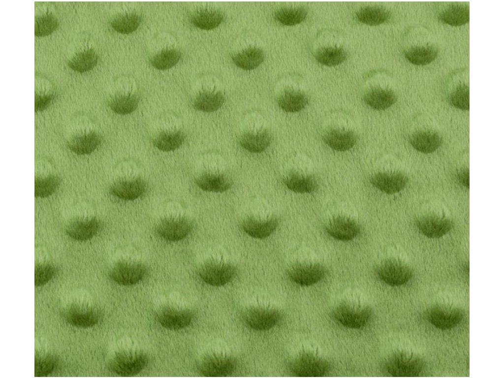 248 minky puntiky tmave zelena