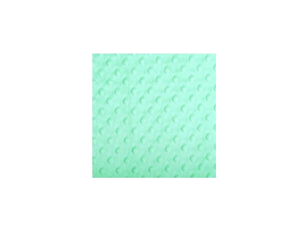 257 minky puntiky mint zelena