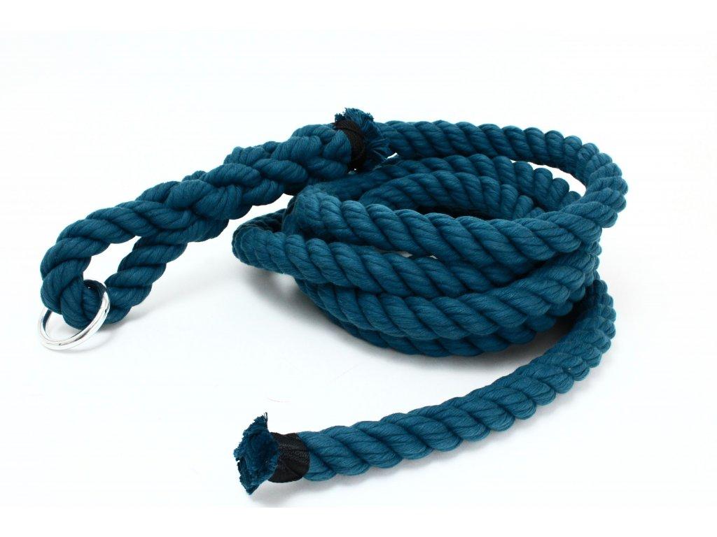 Šplhové Lano Velvet - tmavá modrá - průměr 30mm