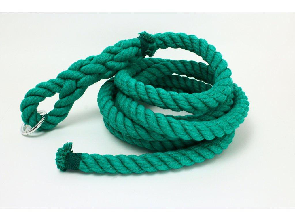 Šplhové Lano Velvet - zelená - průměr 30mm