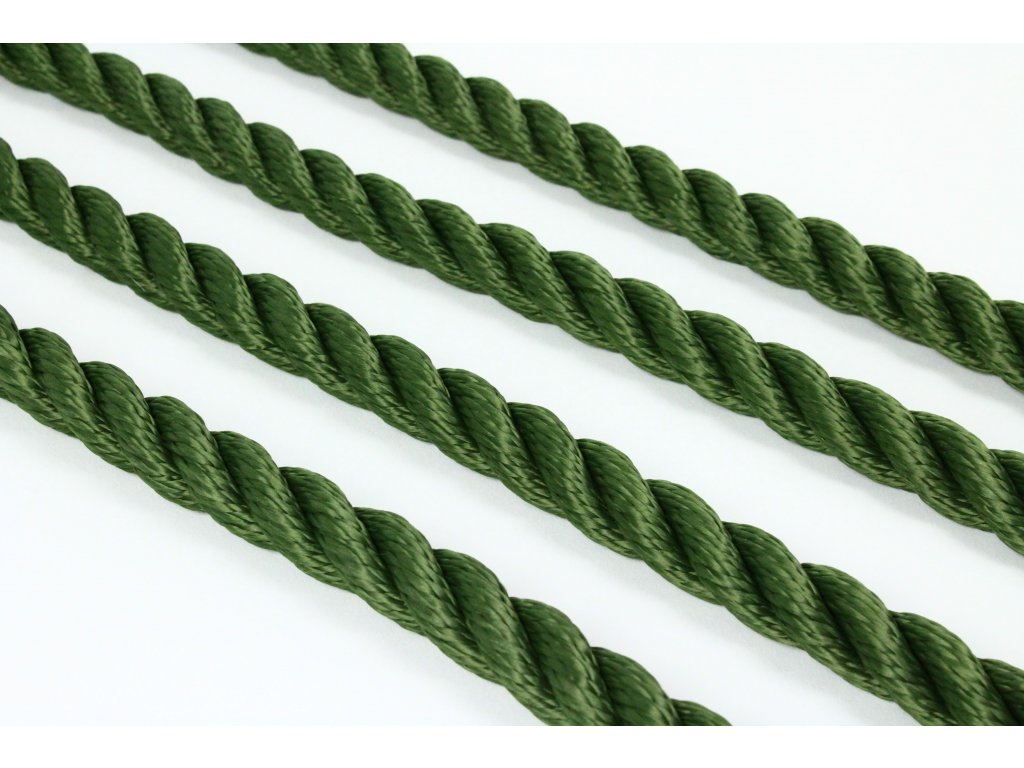 Lano SPP Twister - tmavá zelená