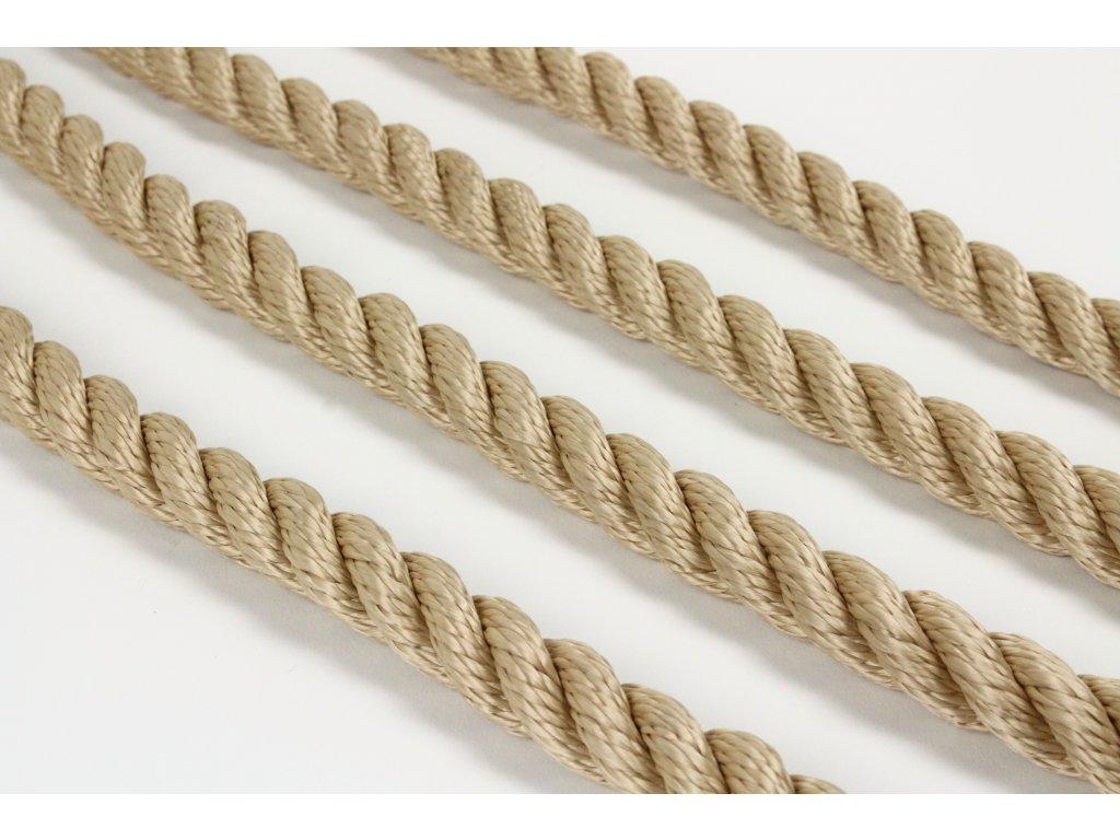 Stáčené lano SPP - béžová