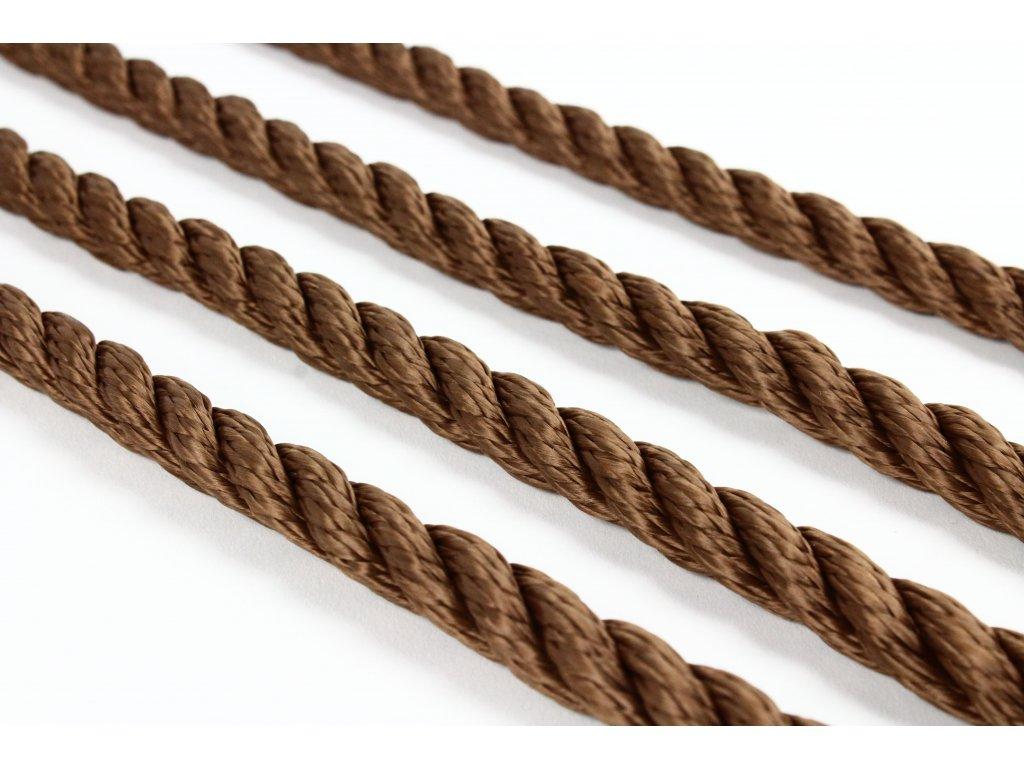 Stáčené lano SPP - hnědá