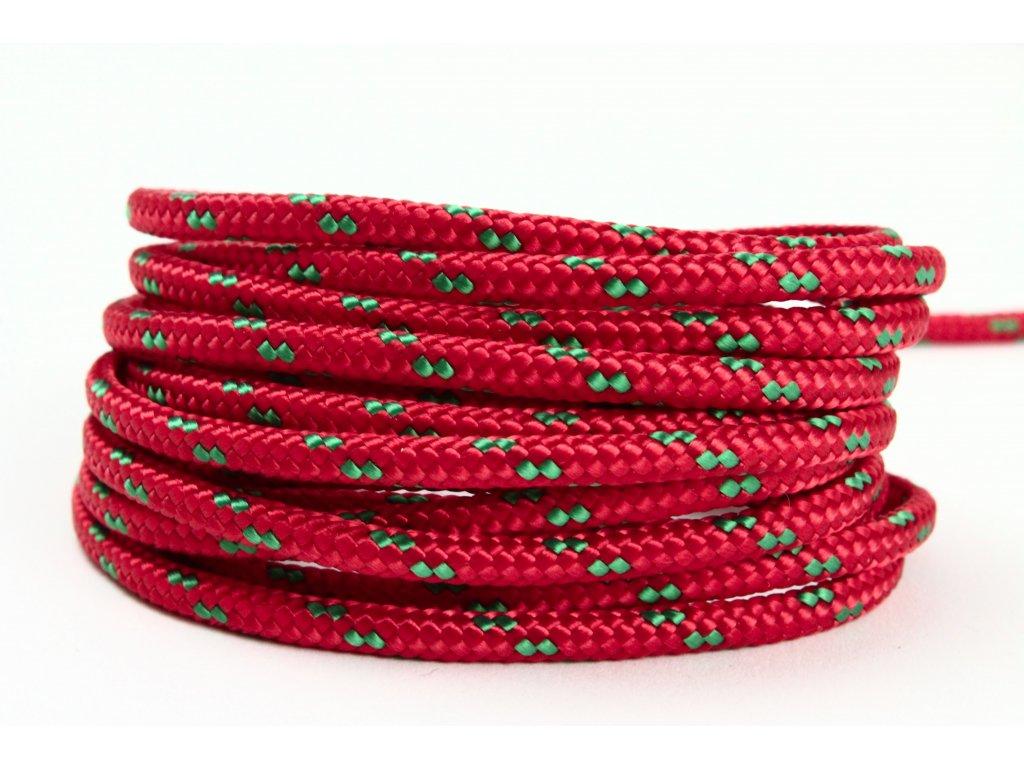 Sport šňůra PES - červená/zelená