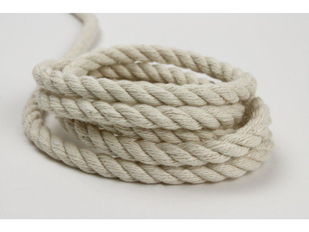 Stáčené lano Velvetina - režná