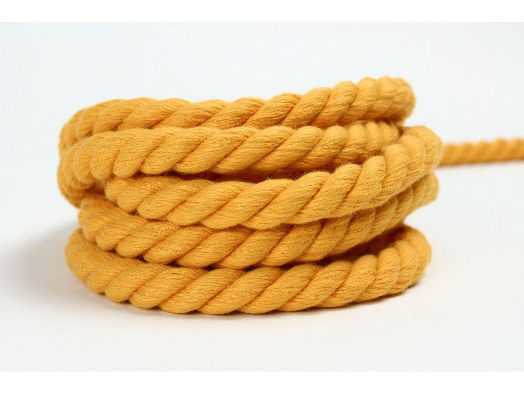 Stáčené lano Velvetina - žlutá